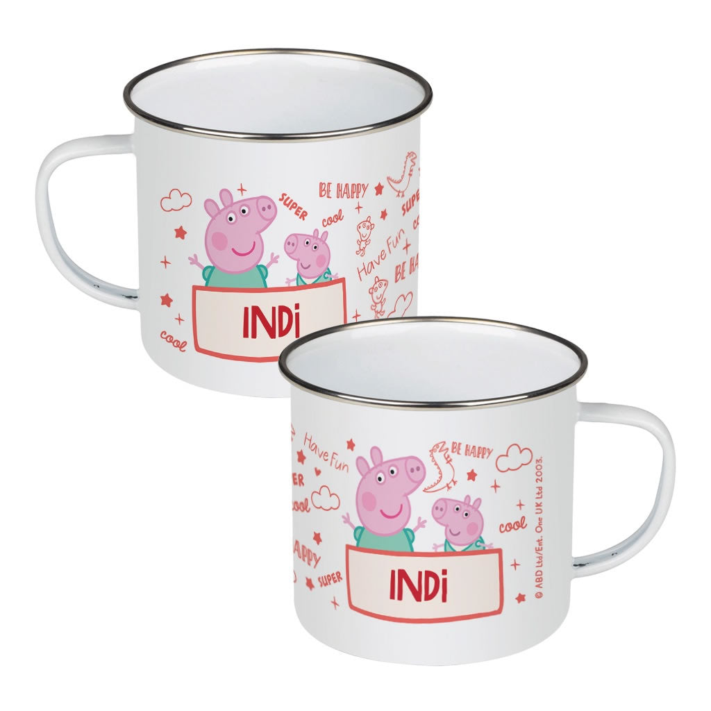 Peppa and George Enamel Mug