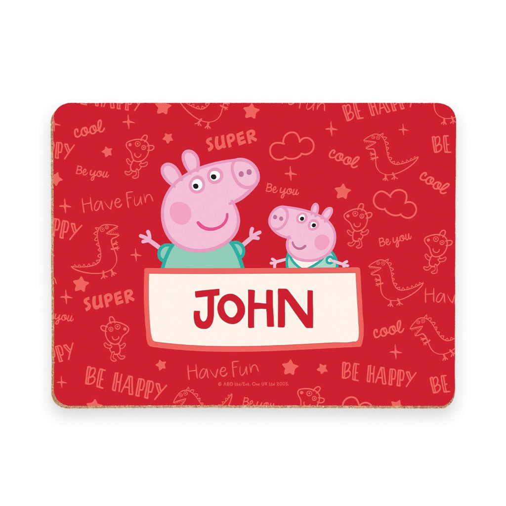 Peppa and George Placemat