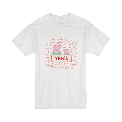 Peppa and George T-Shirt Personalised T-Shirt
