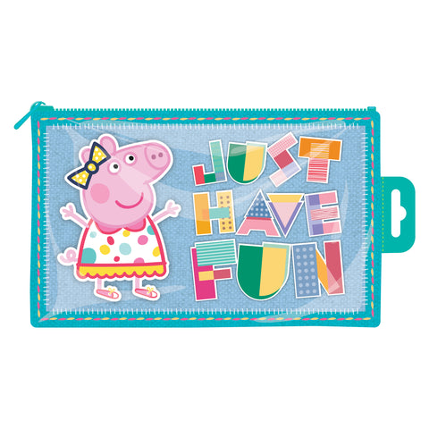 Peppa Pig Flat PVC Pencil Case
