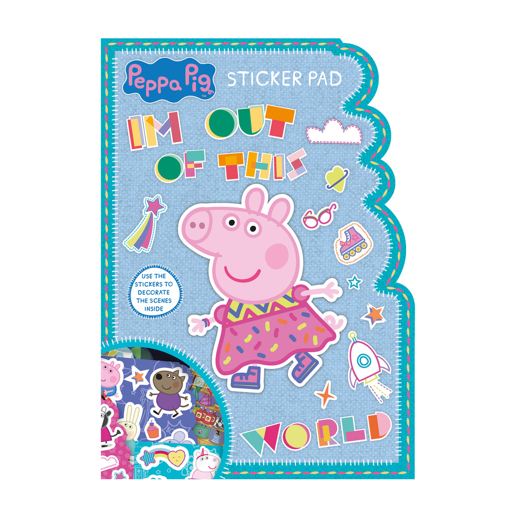 Peppa Pig Shaped Sticker Pad