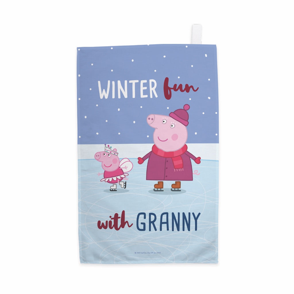 Winter Fun with Granny Tea Towel