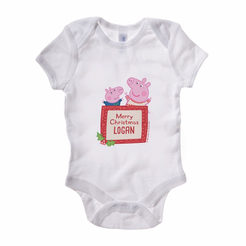 Merry Christmas Baby Grow Personalised Baby Grow