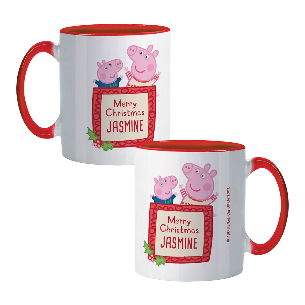 Merry Christmas Coloured Insert Mug