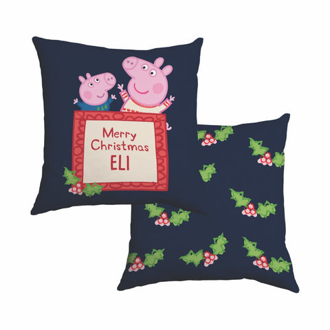 Merry Christmas Cotton Cushion