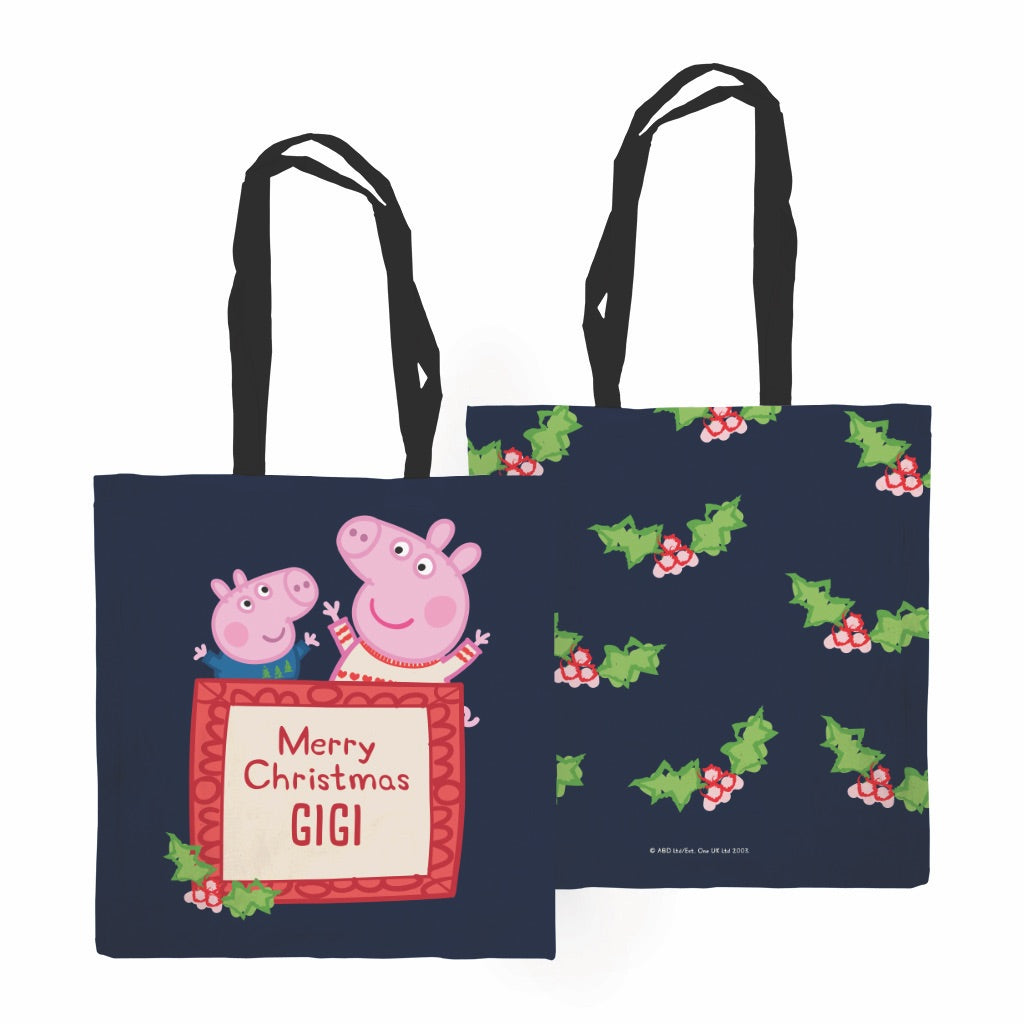 Merry Christmas Edge to Edge Tote Bag