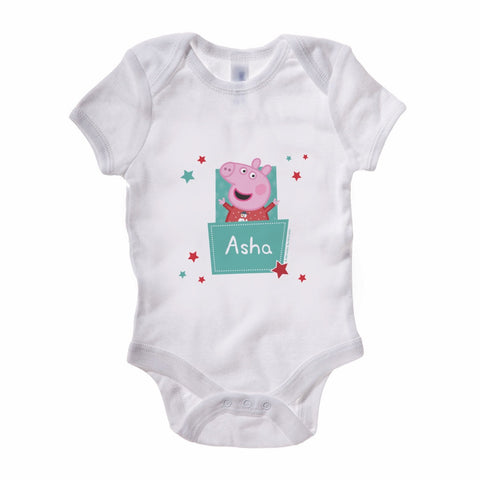 Stars Pocket Baby Grow Personalised Baby Grow