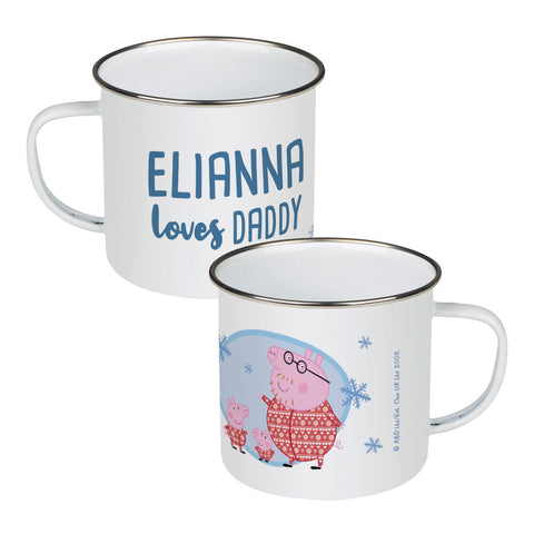 Loves Daddy Enamel Mug