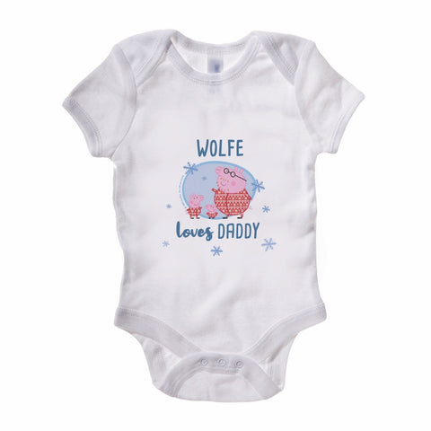 Loves Daddy Baby Grow Personalised Baby Grow
