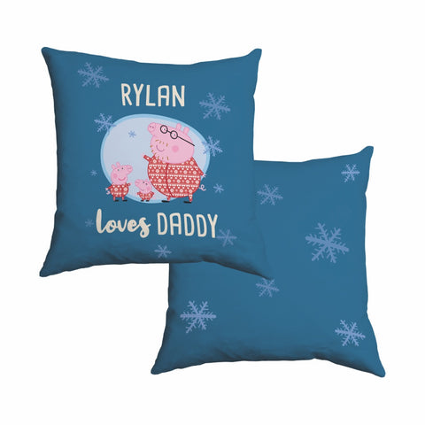Loves Daddy Cotton Cushion