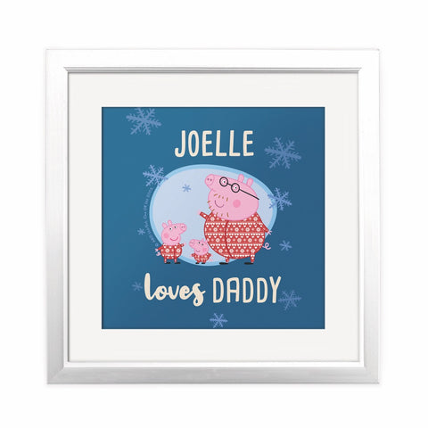 Loves Daddy Square Art Print Personalised Square Art Print