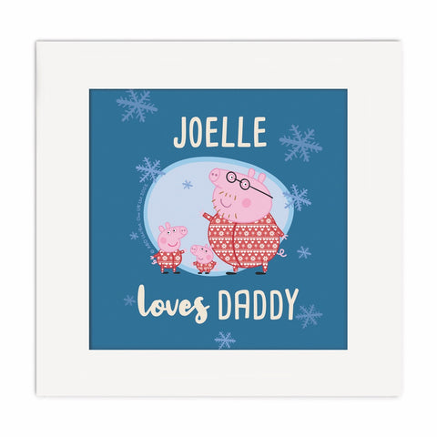 Loves Daddy Square Art Print Personalised Square Art Print 2