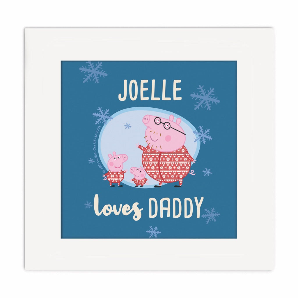 Loves Daddy Square Art Print
