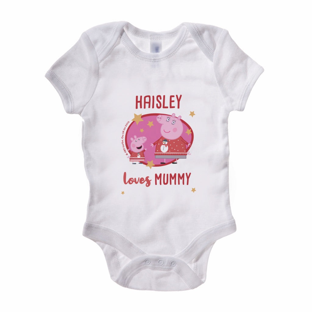 Loves Mummy Baby Grow Personalised Baby Grow