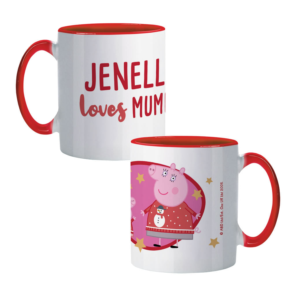 Loves Mummy Coloured Insert Mug
