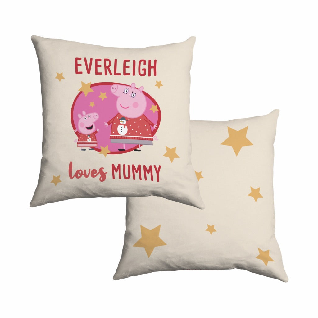 Loves Mummy Cotton Cushion