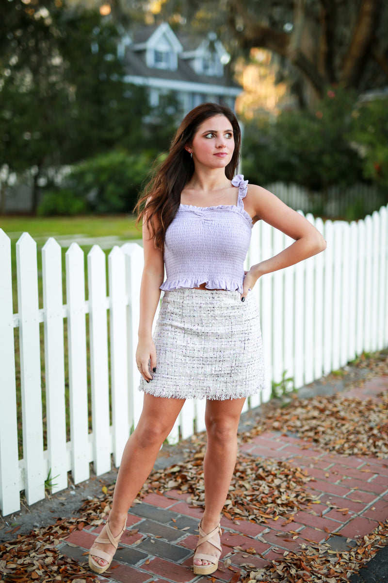Day and Night Tweed Skirt