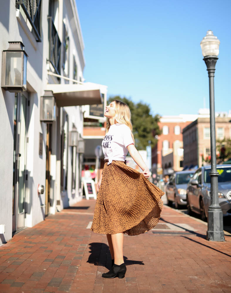Wildin' Out Pleated Skirt