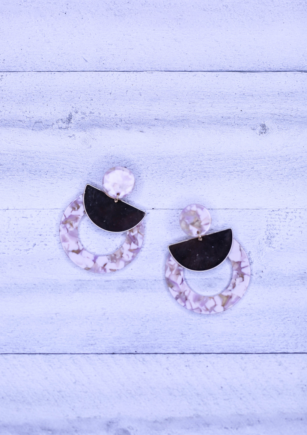 Stunner Pink Marble Earrings