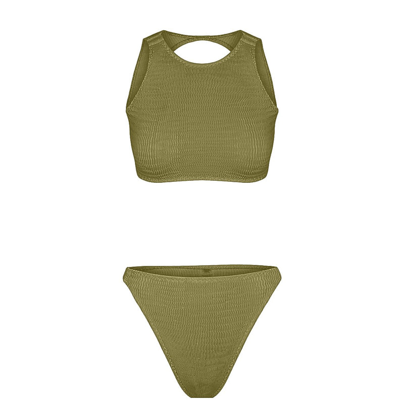 Tide Sports Kini Top - Moss | Moss Stripe