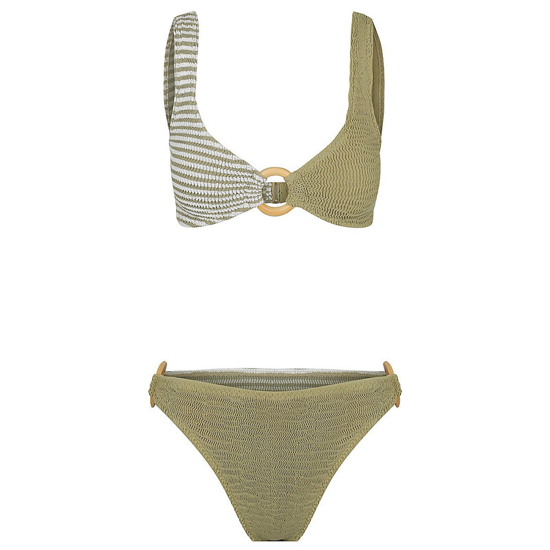Ripple Brief - Multi Way Moss Stripe