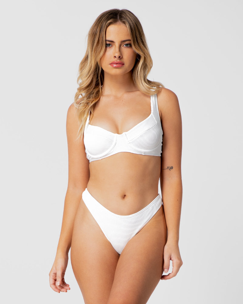 Barbados Underwire Top - White Rib