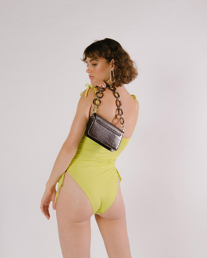 One Piece with adjustable sides - Lime