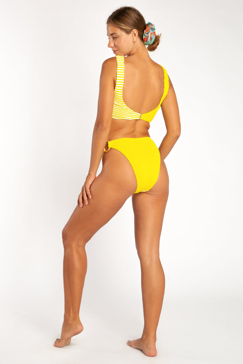 Oceania Multi Kini Top - Sunshine + Stripe