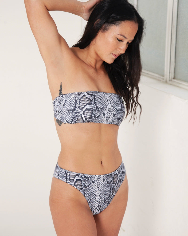 Kirra Midi Bottoms - Snake - TWO SPARROW AUSTRALIA - Sustainable Swimwear Australia - Bottoms - Snake / S