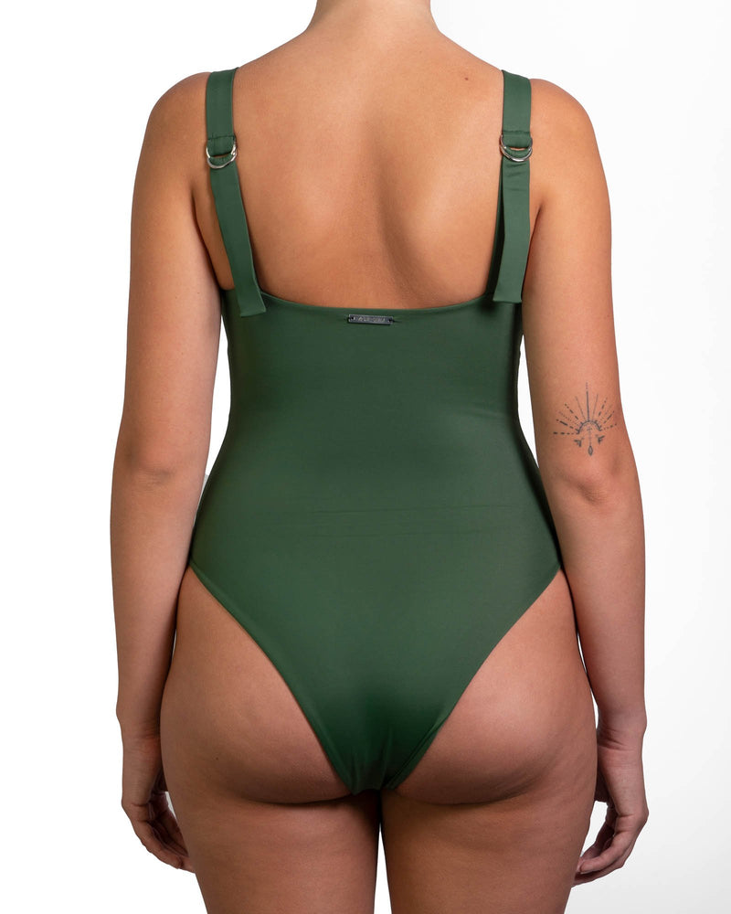 The Lovina One Piece - Black, White, Green or Coral