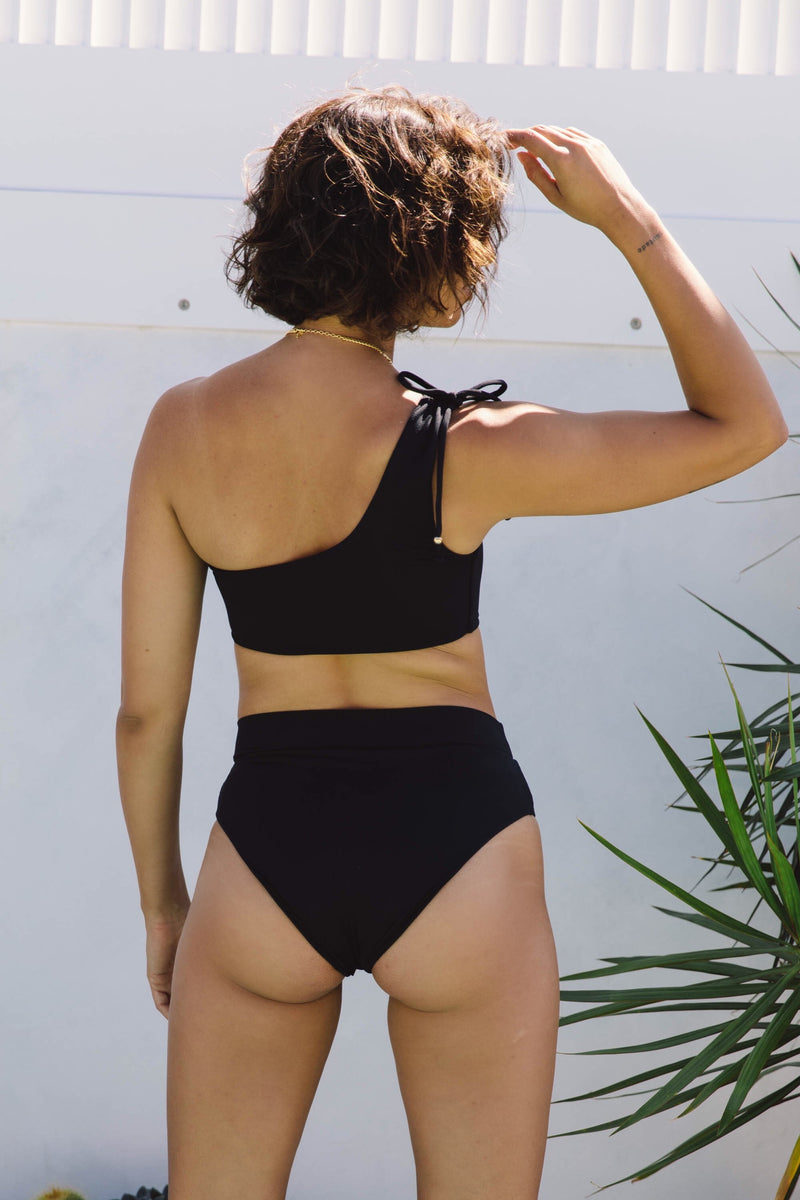 Sirena Crop Top - Black Rib