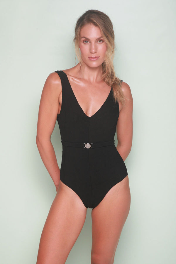 Belted One Piece - Mystic Black