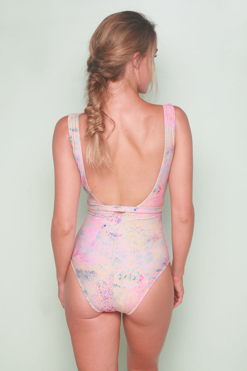 Belted One Piece - Rainbow Sea Lace