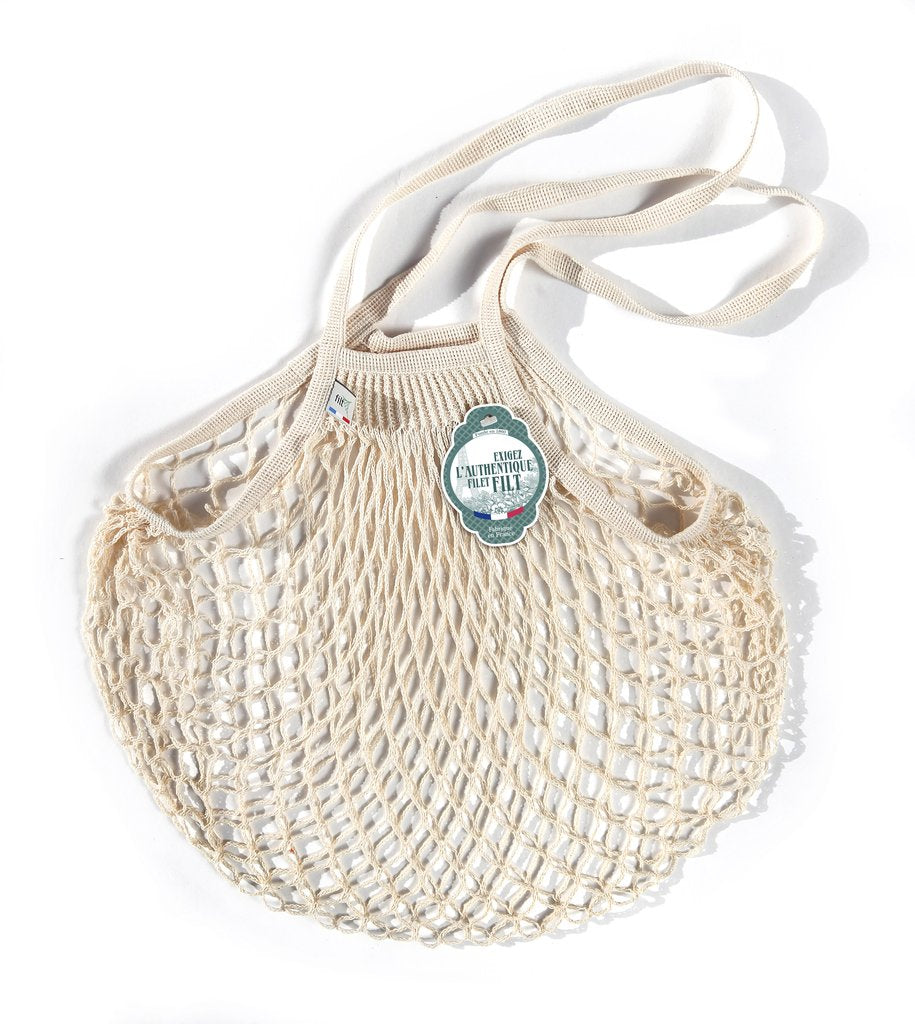 COTTON FRENCH MARKET NET BAG (MEDIUM) - Ecru