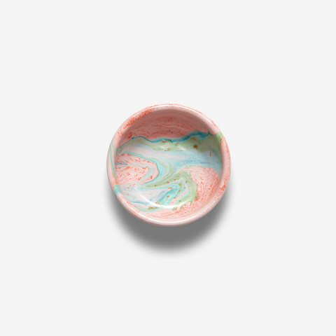ENANEL BOWL SMALL MULTI SWIRL BLUSH