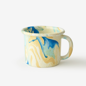 ENAMEL MUG 12 OZ. MULTI SWIRL LEMON CREAM