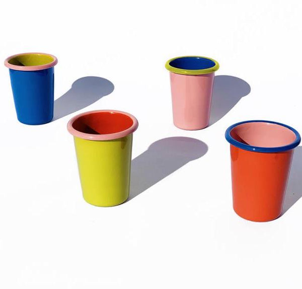 BORNN ENAMEL 8OZ. TUMBLER COLORAMA (4 COLORS)