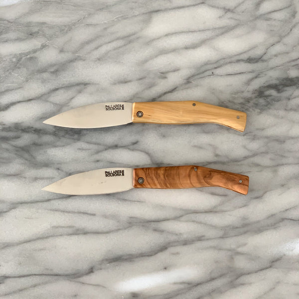 POCKET KNIFE BUSA W/ OLIVEWOOD HANDLE