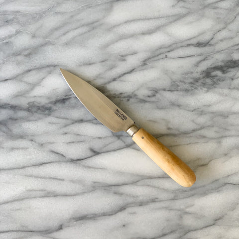 PALLARES SOLSONA CARBON STEEL/BOXWOOD HANDLE KITCHEN KNIFE 9cm