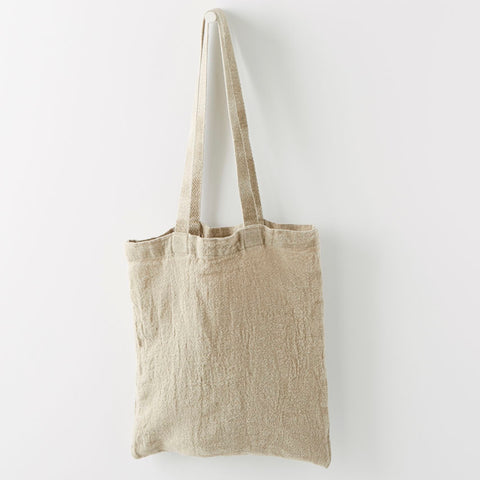 FRENCH LINEN SHOULDER BAG (3 COLORS)