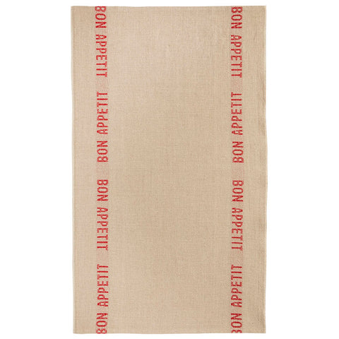 FRENCH LINEN TEA TOWEL BON APPETIT (3 NEW COLORS)