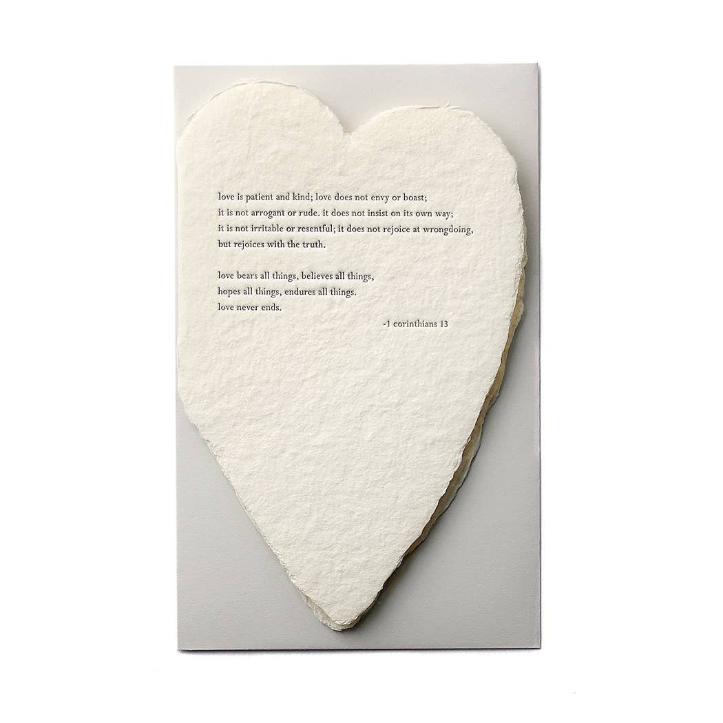 QUOTE DECKELED HEART CARD (3 OPTIONS)