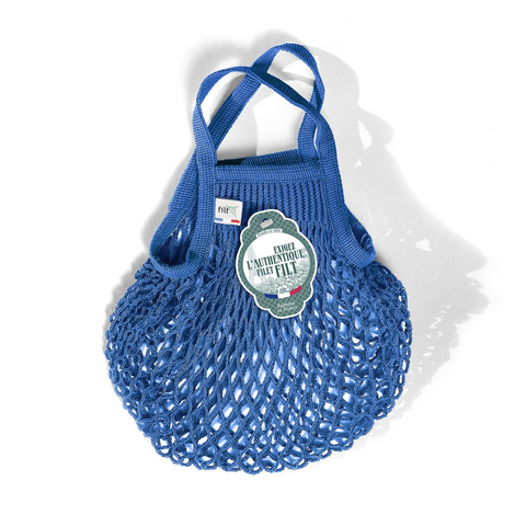 COTTON FRENCH MARKET NET BAG (MINI) - BLUE