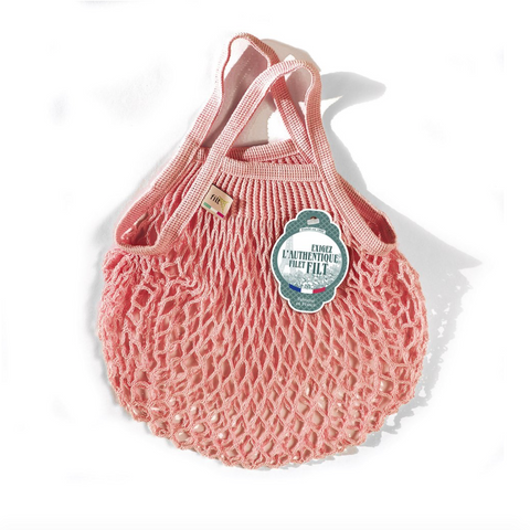 COTTON FRENCH MARKET NET BAG (MINI) - LIGHT PINK
