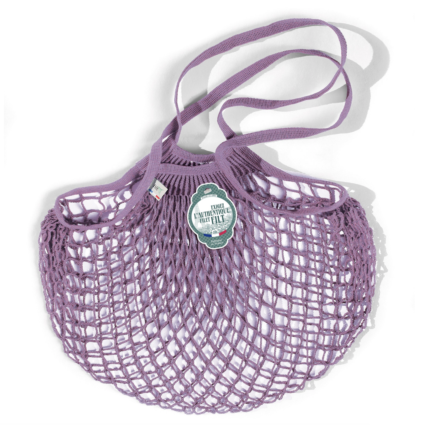 COTTON FRENCH MARKET NET BAG ((MEDIUM) - LILAC