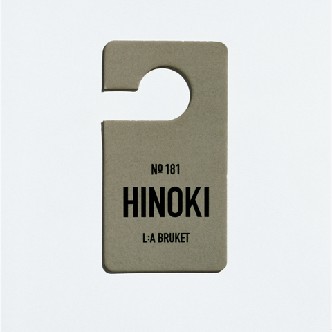 L:A BRUKET FRAGRANCE TAG - NO.181 HINOKI
