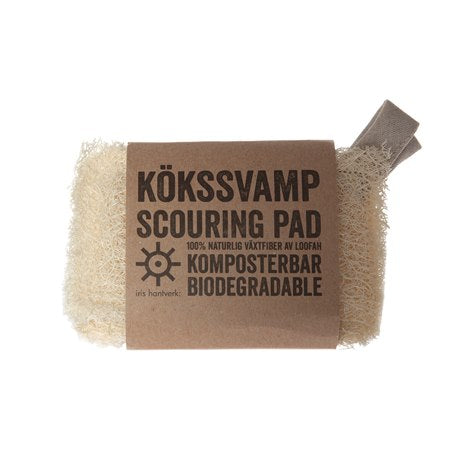 NATURAL SCOURING PADS SET OF 2 (FOR CLEANING & DISHWASHING)