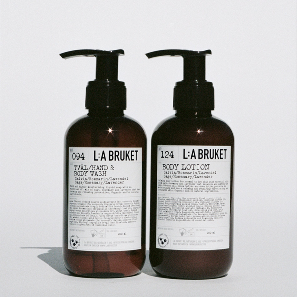 L:A BRUKET DUO KIT HAND/BODY WASH & BODY LOTION SAGE/ROSEMARY/LAVENDER