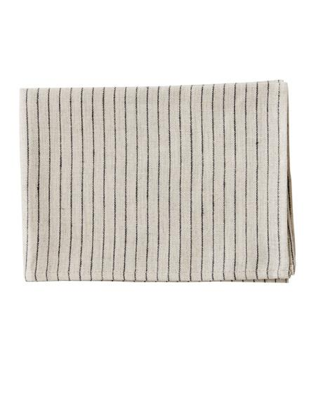 LINEN KITCHEN CLOTH - NATURAL BLACK STRIPES