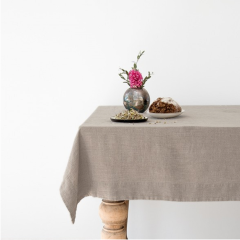 WASHED LINEN TABLECLOTH - NATURAL (140x250cm)